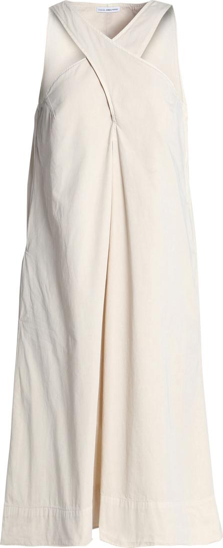 James Perse Cotton-twill midi dress