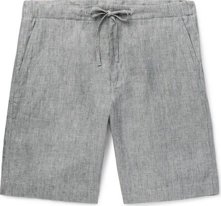 Loro Piana Mélange Slub-Linen Drawstring Shorts