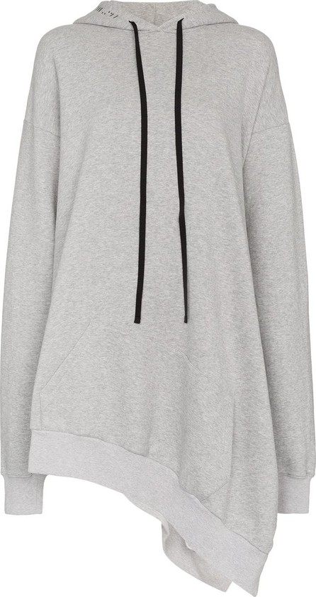 Ben Taverniti Unravel Project Asymmetric cotton hoodie dress