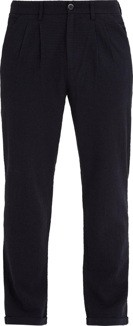 Barena Venezia Pleated-front straight-leg gingham trousers