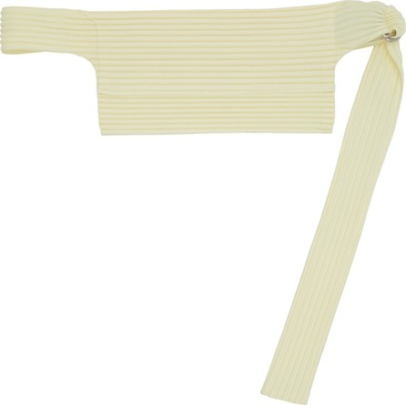 Pleats Please By Issey Miyake SSENSE Exclusive Off-White Pleated Waist Bag