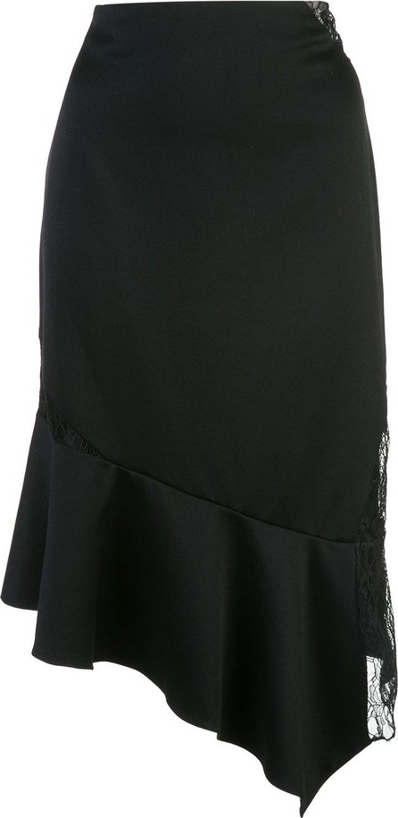 Alice + Olivia Asymmetric ruffled skirt