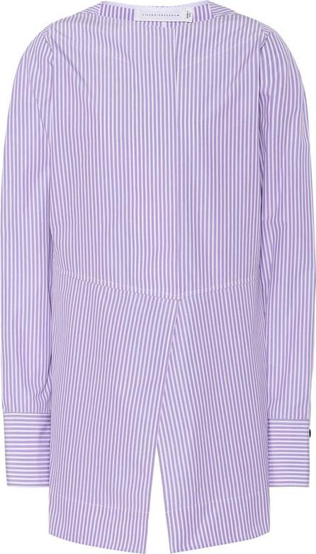 Victoria Beckham Striped cotton blouse