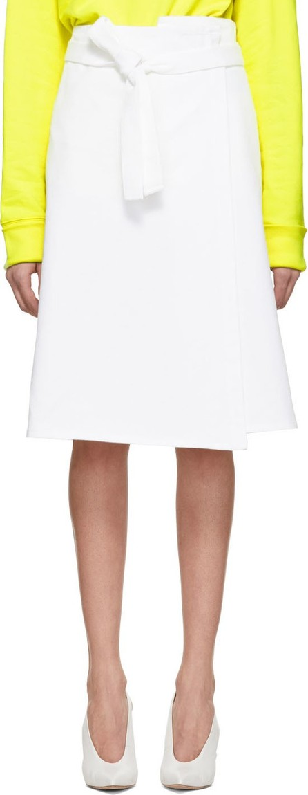 A_Plan_Application White Denim Wrap Skirt