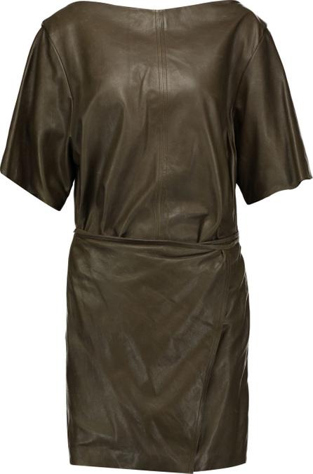 Isabel Marant Falco wrap-effect leather mini dress