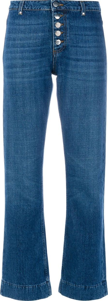 Alexa Chung flare button jeans