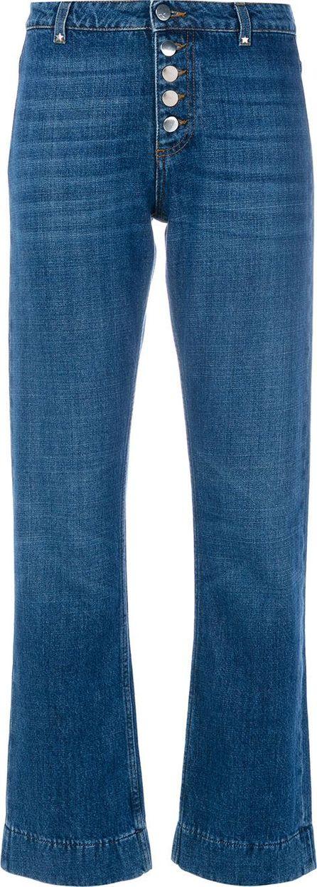 Alexa Chung flare button jeans
