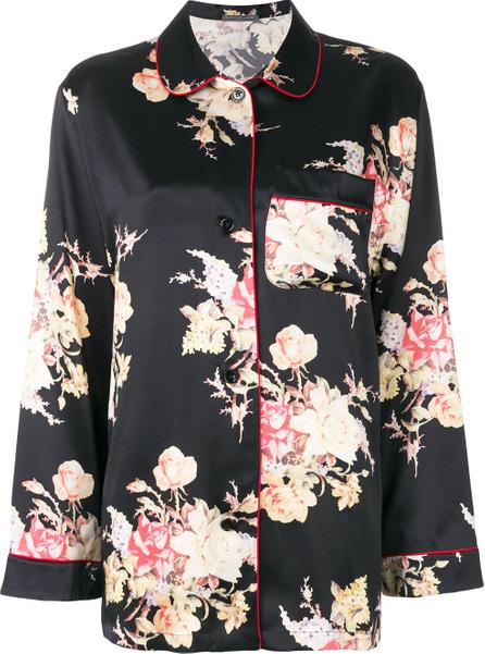 Alexander McQueen Floral print pyjama shirt