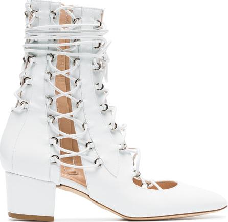 Liudmila White Drury Lane 50 Patent Leather Boots