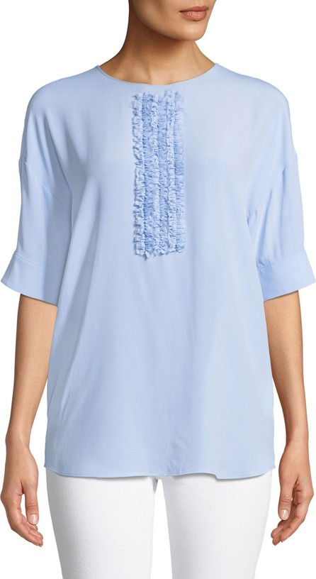 Nº21 Short Sleeve Top With Front Ruffle Detail