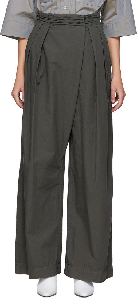 Lemaire Grey Asymmetrical Trousers