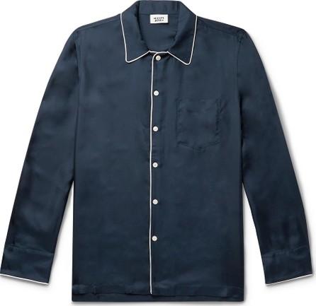 Sleepy Jones Henry Piped Silk-Twill Pyjama Shirt