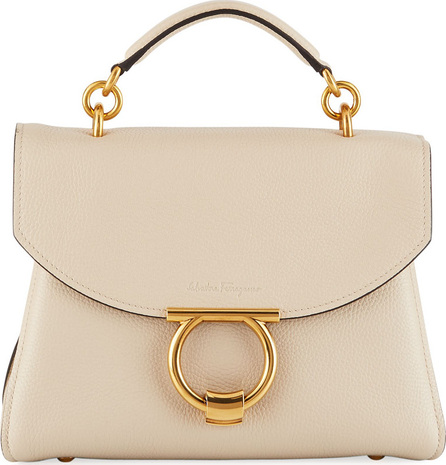 Salvatore Ferragamo Small Gancio Vela Leather Top-Handle Satchel Bag
