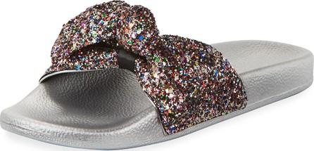 Kate Spade New York shellie glitter slide pool sandal, multi