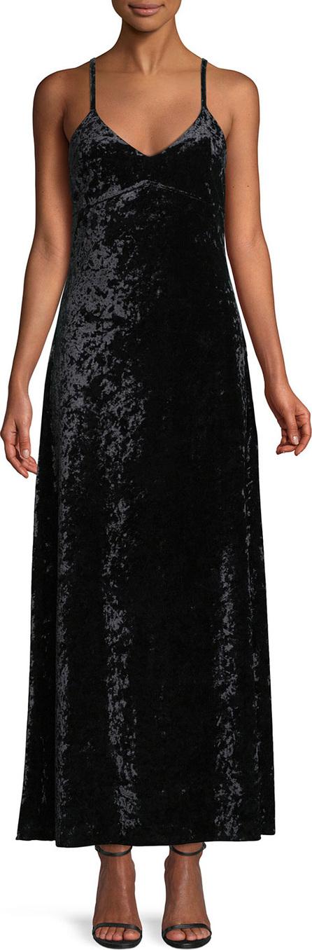 MICHAEL MICHAEL KORS Crushed Velvet Slip Maxi Dress