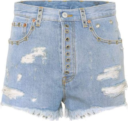 Gucci High-waisted denim shorts