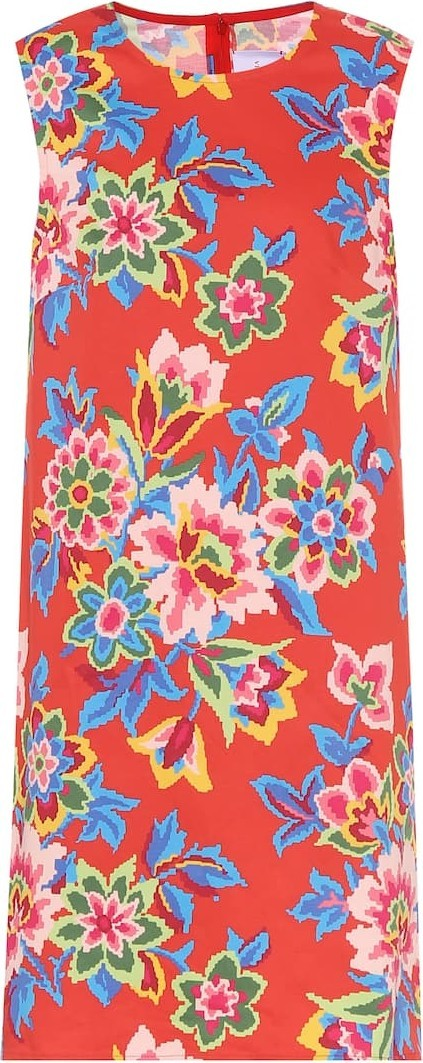 Carolina Herrera Floral stretch-cotton shift dress
