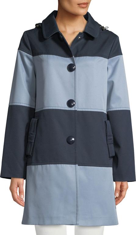 Kate Spade New York rain mac colorblock jacket w/ hood