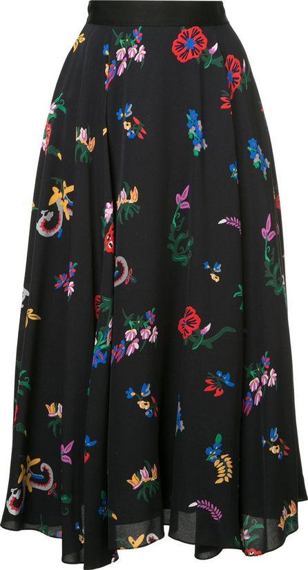 Novis floral print midi skirt