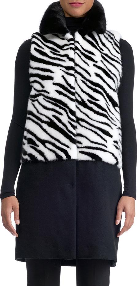 Gorski Mink Intarsia Vest with Wool Bottom