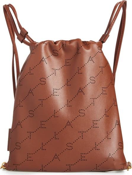 Stella McCartney Perforated Logo Mini Faux Leather Drawstring Backpack