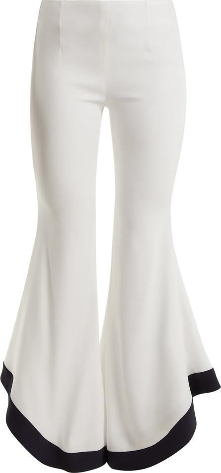 Galvan Sierra wide-leg high-rise crepe trousers