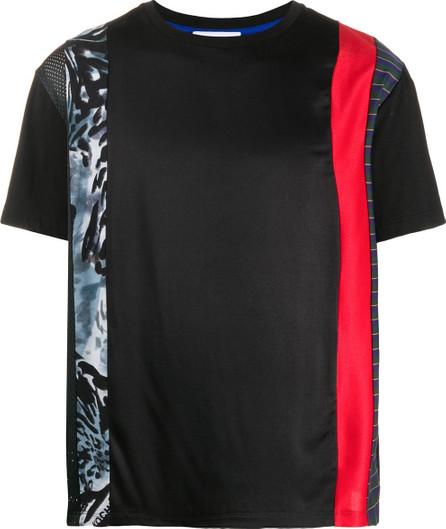 KOCHÉ Short-sleeved contrasting stripe T-shirt