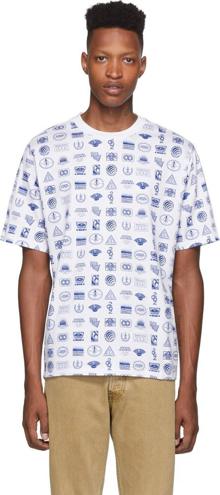 Opening Ceremony White Multi Logo T-Shirt