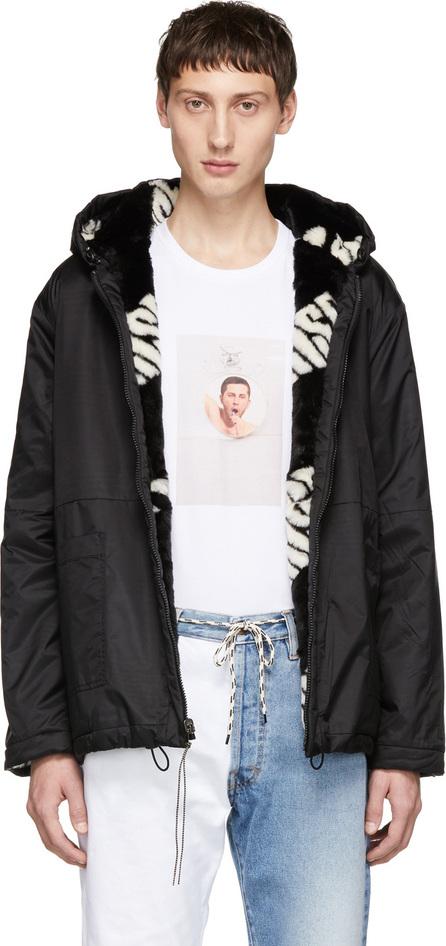 Aries Reversible Black & White Hooded Jacket