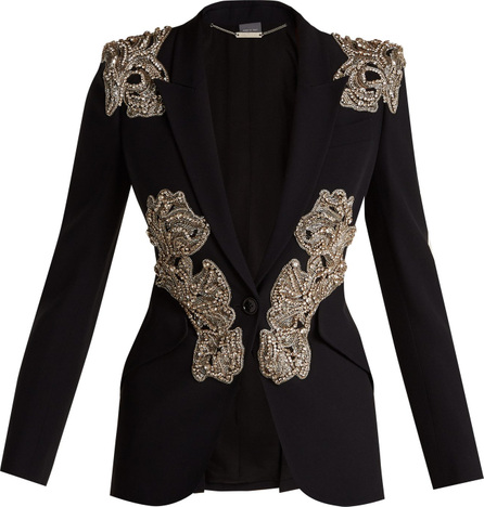 Alexander McQueen Crystal and beaded blazer