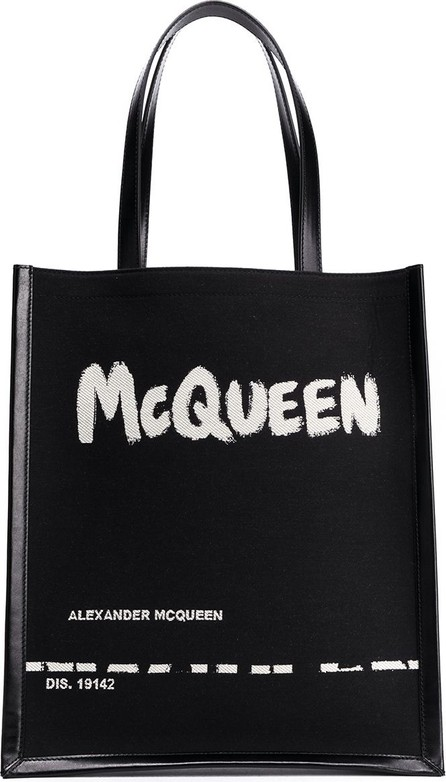 Alexander McQueen Painterly logo print tote