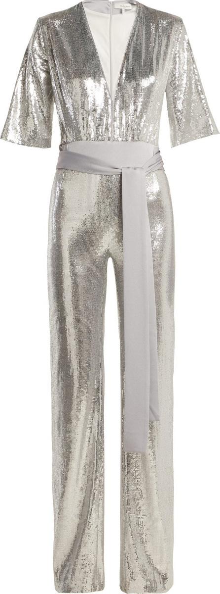 Galvan Galaxy sequined wide-leg jumpsuit