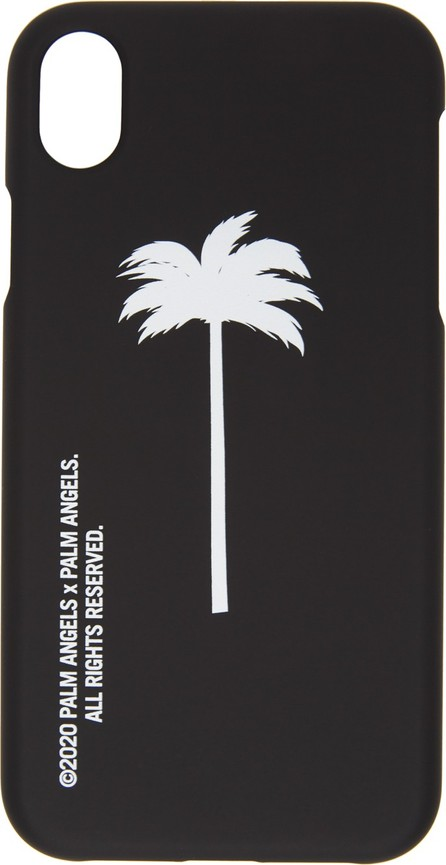 Palm Angels Black & White Palm Tree iPhone XR Case