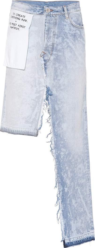 Unravel Asymmetric denim skirt