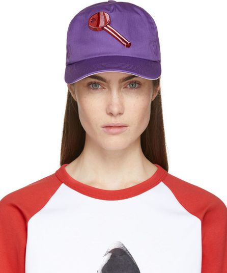 Acne Studios Purple Heart Key Calis Soft Baseball Cap