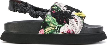 Antonio Marras floral lace overlay sandals