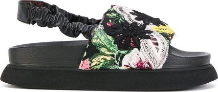 Antonio Marras floral lace overlay sandals