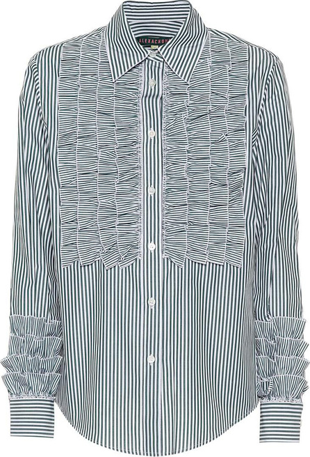 Alexachung Ruffled cotton shirt