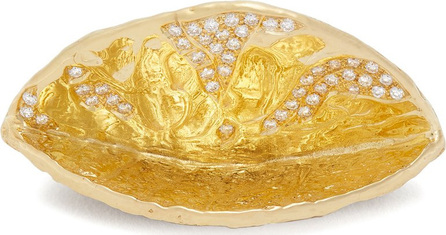 Patcharavipa 18kt gold and diamond coconut shell ring