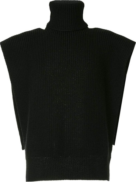 Raf Simons Turtleneck vest with patches
