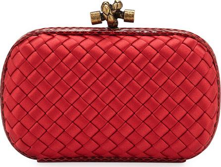 Bottega Veneta Small Intrecciato Impero Satin Knot Minaudiere Clutch Bag