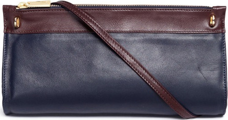 A-Esque 'Cylinder' colourblock leather crossbody bag