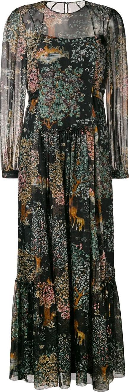 Alberta Ferretti Floral print maxi dress