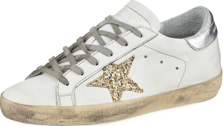 Golden Goose Deluxe Brand Superstar Glittered Star Low-Top Sneaker