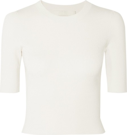 Dion Lee Shadow cropped ribbed-knit top