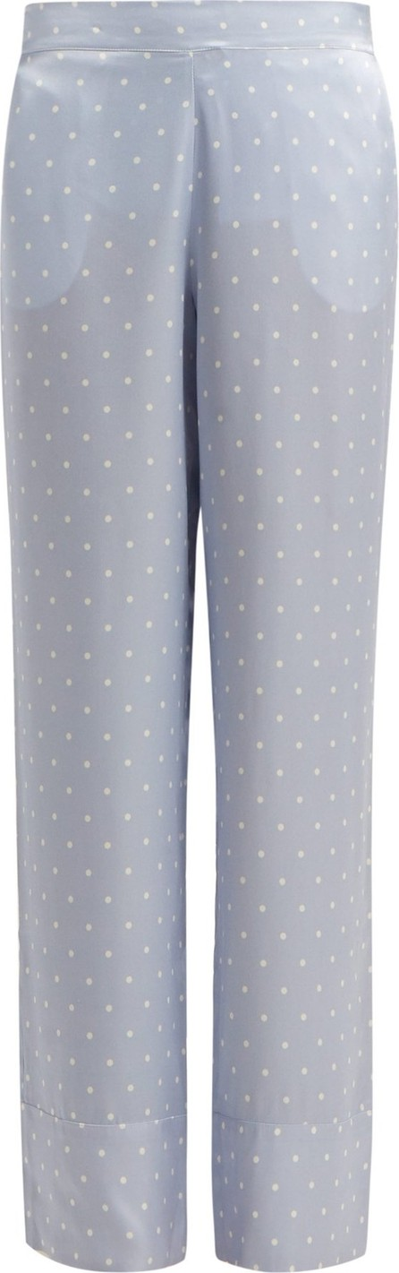 Asceno Polka-dot silk-satin pyjama bottoms