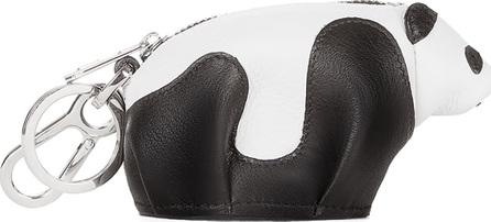LOEWE Leather Panda Key Chain, Black/White