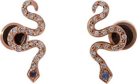 Ileana Makri Little Snake 18kt rose-gold and sapphire earrings