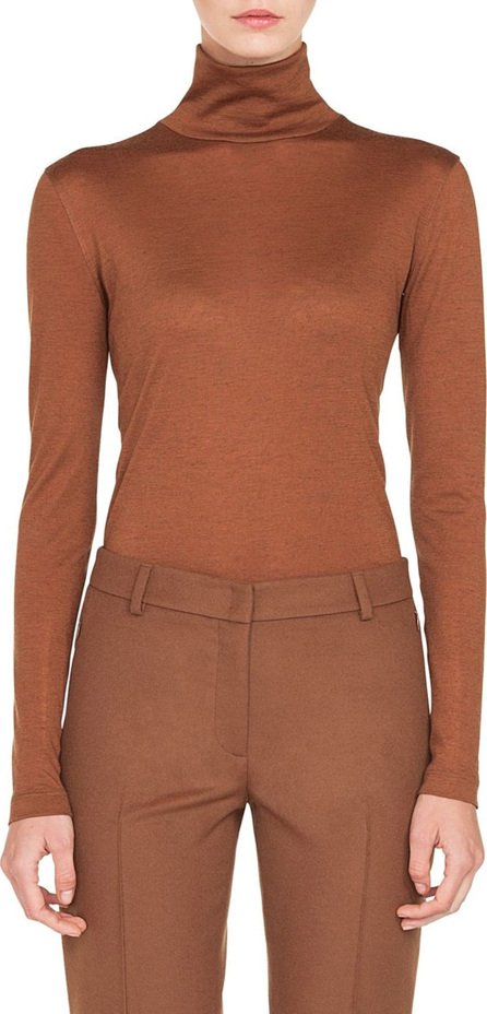 Akris Cashmere & Silk Mock Neck Sweater
