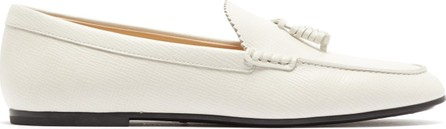 Tod's Tasselled grained-leather loafers